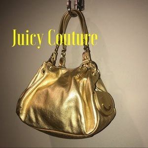 Juicy Couture Gold Leather Small Satchel